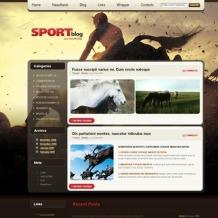 Horse Racing PSD Template