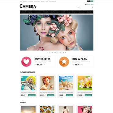 Stock Photo Responsive OpenCart Template