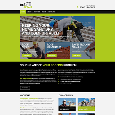 Roofing Company WordPress Theme