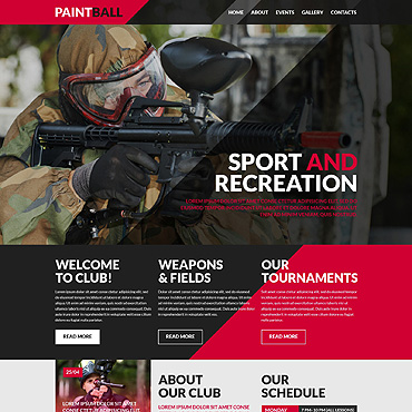 Paintball Responsive Website Template
