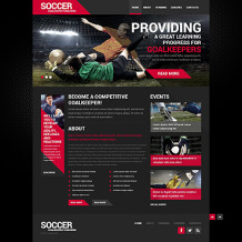 Soccer Responsive Website Template