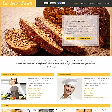 Cooking Flash CMS Template