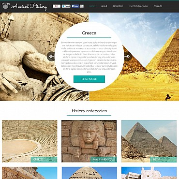 Museum Flash CMS Template