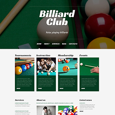 Billiards Responsive WordPress Theme
