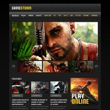 Games Moto CMS HTML Template