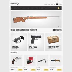 Gun Shop Responsive Magento Theme