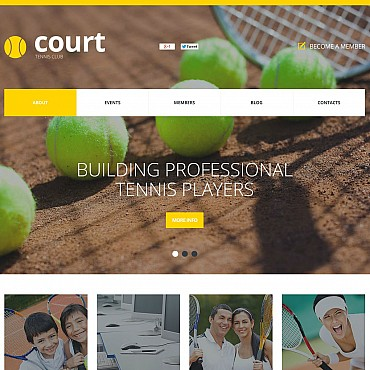 Tennis Flash CMS Template
