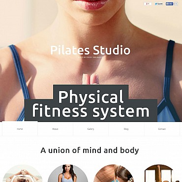 Yoga Flash CMS Template