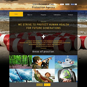 Environmental Flash CMS Template