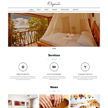 Hotels  Motels Joomla Template #50684