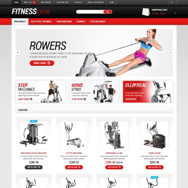 Fitness Responsive OpenCart Template