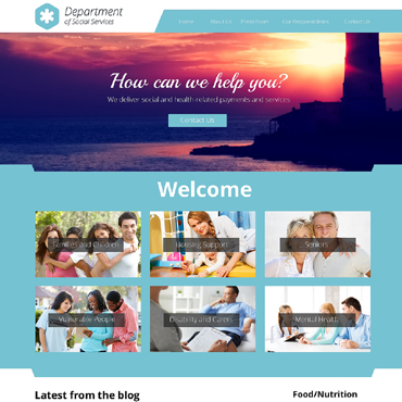 Society & Culture Responsive Website Template