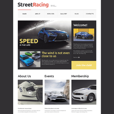 Car Racing Responsive Website Template
