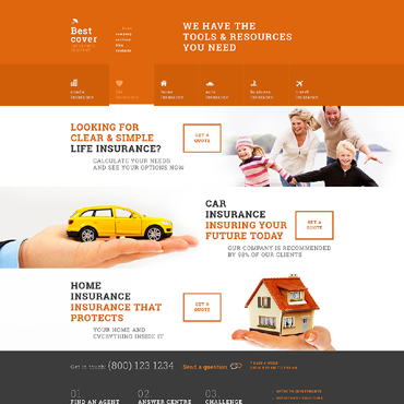 Insurance Responsive WordPress Theme