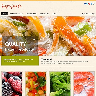 Frozen Food Moto CMS HTML Template