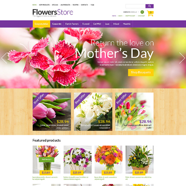 Flower Shop ZenCart Template