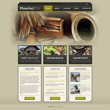 Hunting WordPress Theme #50880