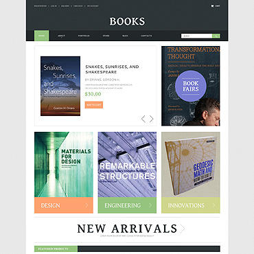 Books PSD Template