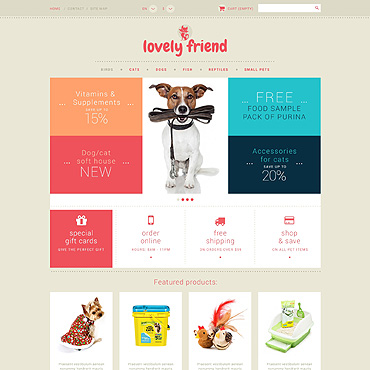 Pet Shop PSD Template