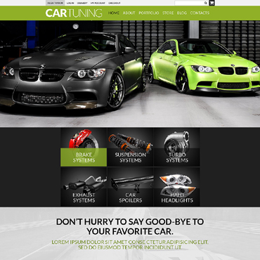 Car Tuning Responsive WooCommerce Theme