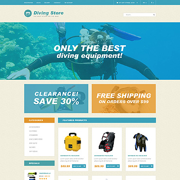 Diving PSD Template