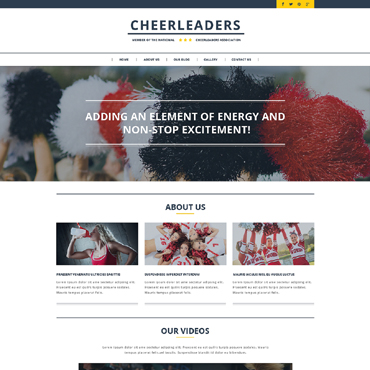 Cheerleading Responsive Website Template