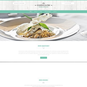European Restaurant Responsive Website Template