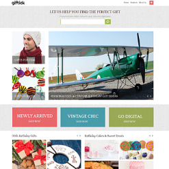 Gifts Store PSD Template
