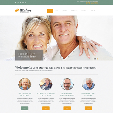 Retirement Planning Responsive Website Template