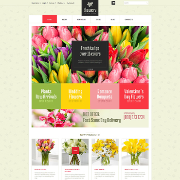 Flower Shop Responsive WooCommerce Theme