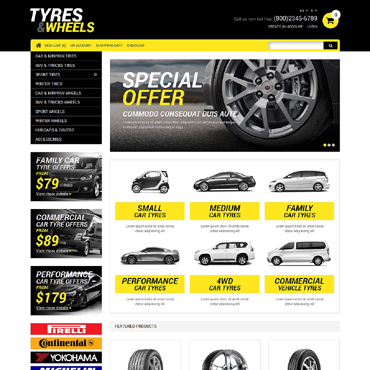 Wheels & Tires Responsive OpenCart Template #51204