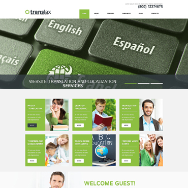 Translation Bureau Responsive WordPress Theme