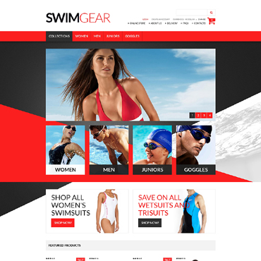 Swimming VirtueMart Template