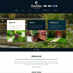Landscape Design Flash CMS Template