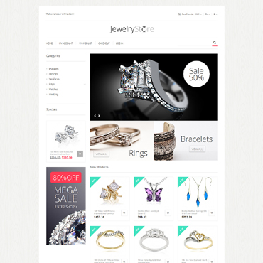 Jewelry Responsive Magento Theme