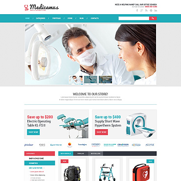 Medical Equipment PSD Template