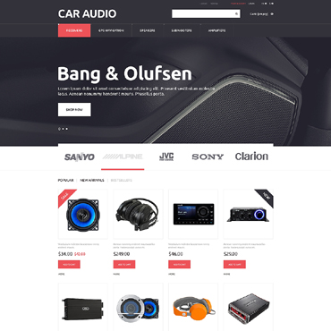 Car Audio Responsive PrestaShop Theme
