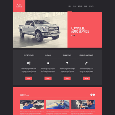 Car Repair Responsive Website Template