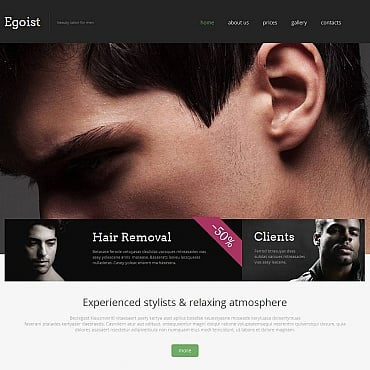 Beauty Salon Moto CMS HTML Template