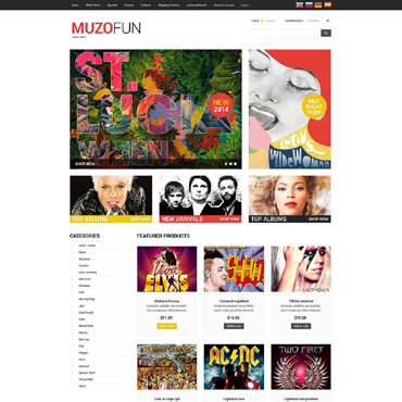 Music OsCommerce Template