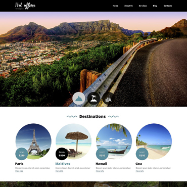 Travel Agency Drupal Template #51792