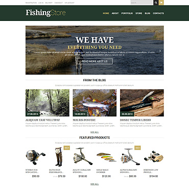 Fishing Responsive WooCommerce Theme