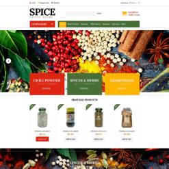 Spice Shop ZenCart Template