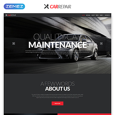 Car Repair Responsive Website Template #51928