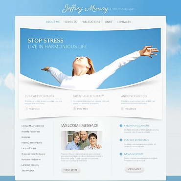 Family Psychologist Moto CMS HTML Template