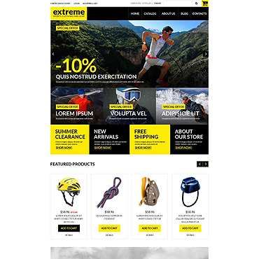 Extreme Sports Responsive VirtueMart Template