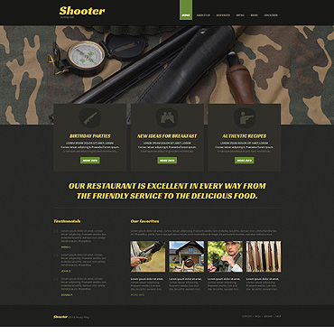 Shooting Responsive Joomla Template