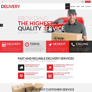 Delivery Services Responsive Website Template