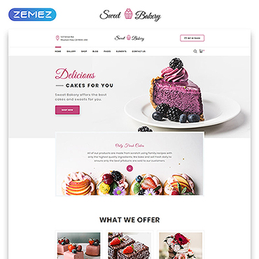 Sweet Shop Website Template