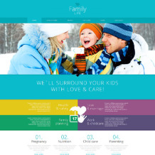 Family Center Responsive Joomla Template